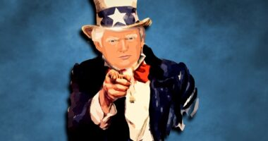 Trump uncle Sam illustration